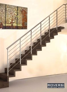 Steel Railing Design, Staircase Railing Design, Steel Stair Railing, Steel Stairs, Veranda Railing, Stair Detail, Scale Design, Interior Stairs, Sweet Home