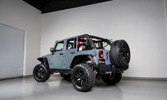 2014 Jeep Wrangler Black with custom roll cage Wrangler Unlimited Sport, 2014 Jeep Wrangler, Jeep Wrangler Sahara, Jeep Photos, Custom Jeep, Roll Cage, Custom Leather, Dream Cars, Monster Trucks
