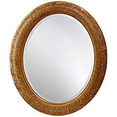 "Feiss Arlene 36"" High Oval Wall Mirror"
