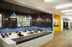 Fred Perry store by BuckleyGrayYeoman, Munich store design (using lots of tiles!)