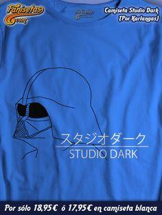 """Las mejores #películas de #Anime, con permiso de #StudioGhibli son las de """"Studio Dark"""". Dibujos con un toque del lado oscuro de la fuerza. Con el sello de calidad de #DarthVader! #Camisetas #Divertidas #Fanisetas http://www.fanisetas.com/camiseta-studio-dark-p-5349.html"""