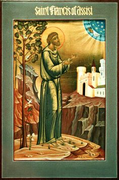 """Diana Arkhi Art - Icons - """"St. Francis of Assisi"""""""