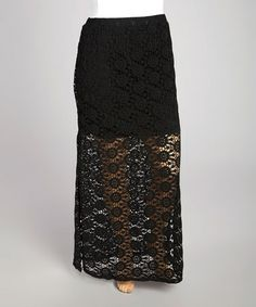 Look what I found on #zulily! Black Crochet Cover-Up Maxi Skirt - Plus zulily finds