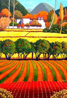 Naive Landscape Art by Gene Brown Abstract Landscape, Landscape Paintings, Abstract Art, California College Of Arts, Brown Art, Southwest Art, Naive Art, Painting Inspiration, Oeuvre D'art