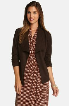 $178 Karen Kane Faux Suede Jacket available at #Nordstrom