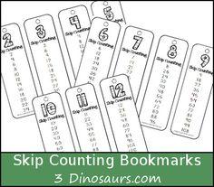 Skip Counting Bookmarks Printable