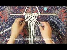 DIY Macrame Wall Hanging - Beginners lesson - Basic knots tutorial - YouTube