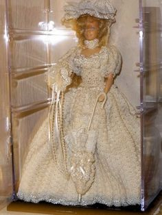 One of the beautiful Paradise Victorian Doll patterns that I crocheted