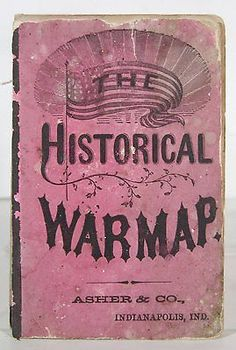 1863 Historical War Map of The Civil War by Asher Adams Book Walnutts BLOWOUT | eBay