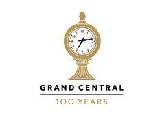 Grand Central Terminal Anniversary logo designed by Pentagram Logo Design Love, Logo Design Inspiration, Creative Inspiration, Michael Bierut, Central Logo, Anniversary Logo, Its Nice That, Identity Design, Brand Identity
