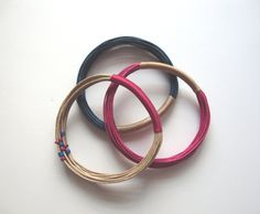 Mix and Match Fiber Bangles! Lovely!