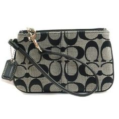 Coach Signature Wrist Case Bag for IPOD Black White (Apparel)  http://flavoredwaterrecipes.com/amazonimage.php?p=B002A865WC  B002A865WC