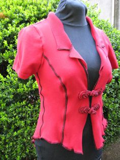 9 to 5 Bustle Coat / recycled cotton by CouturierFaerieVerte