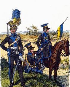 Ufficiali degli ulani e ulano del ducato di Brunswick