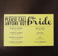 Found via Smitten Chicken's Insta page. How fabulous are these Do Not Disturb the bride cards created by Victoria & Graig's maid of Honour'