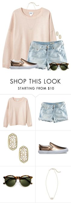 """~metallic~"" by flroasburn ❤ liked on Polyvore featuring Monki, H&M, Kendra Scott and Vans"