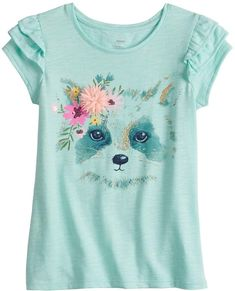 Embellished details and flutter sleeves combine to give this girls' SONOMA Goods for Life tee an updated look. Little Girl Outfits, Toddler Outfits, Cute Dresses For Juniors, Teen Trends, Cool Graphic Tees, Sonoma Goods For Life, Summer Kids, Girls 4, Kids Wear