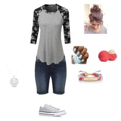 Going Out by rfaber on Polyvore featuring LE3NO, Silver Jeans Co., Converse, Kate Spade, Anne Sisteron and Eos