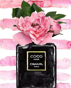 Art Chanel, Perfume Chanel, Chanel Wall Art, Chanel Book Decor, Black And White Aesthetic, Pink Aesthetic, Chanel Wallpapers, Chanel Poster, Photo Deco