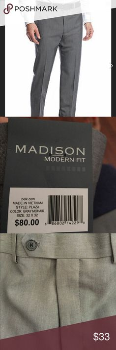 NWT Madison Dress Pants 32X32 And here's another pair of new pants my husband bought and never wore. 😆.  They are perfect! Madison (Belk) Pants Dress