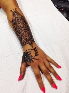 Mandala Tattoo Cover up in hand