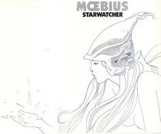 Moebius-Starwatcher Sketch Comic Art