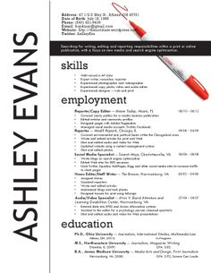 journalism resume design love the bold name on the side but it may be a