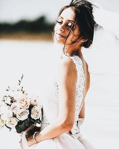 Open back lace summer wedding dress Wedding Timeline, Wedding Pics, Wedding Bells, Wedding Bride, Wedding Engagement, Summer Wedding, Wedding Ceremony, Our Wedding, Dream Wedding