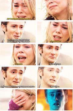 Rose and the Doctor (ten). Saying goodbye. (Gif).---Lay down, try not to cry, CRY ALOT!!!!