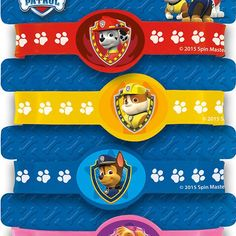 PAW PATROL Stretchy BRACELETS Birthday Party Supplies Loot Treat Bag Favors Prop