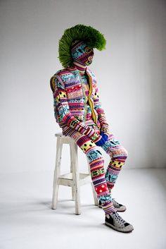 Mohawk tops it off....#yarn bomb #knit #crochet