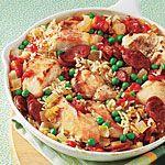 Chicken and Chorizo Paella Recipe | MyRecipes.com Add Spanish olives, capers cumin, cilantro
