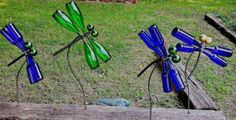Dragon flies my favorite thing. Made from bottles.