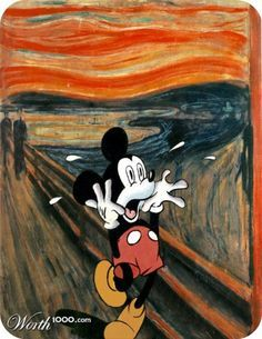 mickey mouse munch the scream - Google Search