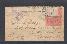 Rhodesia 1902 Cover to London with Cape Town censor