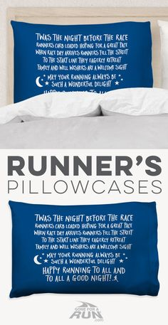 Time for sweet dreams with one of our one-of-a-kind running pillowcases. Makes a great gift for your favorite runner at Christmas or anytime of the year.