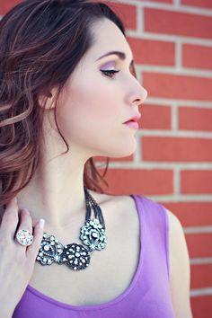 Bling Gunmetal Crystal Necklace on Etsy, $79.00