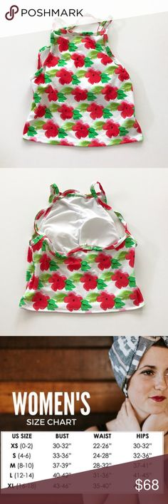 FINAL PRICE | Kortni Jeane Red Floral HighRise Top • Kortni Jeane Swimmer • Size: X-Large Style: High rise 2.0 Pattern: Floral Color: White, red, green Originally: $68 • This item is brand new. It has never been worn. Get a cute KJ swimmer this summer at a great price! Find me on IG: @kortnijeaneswimmers Swim