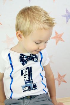 First Birthday Bodysuit Star Wars inspired by MendingLifeTogether