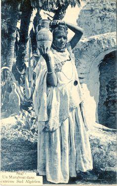 Algerian woman, traditional costume