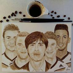 I trust in Joachim Jogi Löw and his team! Enjoy the European Football Championship... ======================== Kaffeemalerei ☆ coffee painting ======================== soccer, EM2016, DFB, Deutscher Fußballbund, UEFA, Die Mannschaft, vive la mannschaft, Adidas, Mario Götze, Manuel Neuer, Thomas Müller, Jerome Boateng, germanyforgold, malen, Kaffeemalerei, Kaffeepinsel, coffeebrush, drawing, coffeepainting