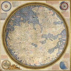 National Library of St Mark's Fra Mauro's map of the world, 1448-1453. On loan from Venice – where it has never before left its library home – this beautiful work is the centrepiece of the National Gallery's show for many visitors.