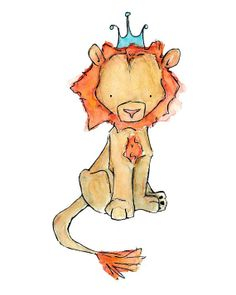 Children's Art  Royal Lion  Art Print by trafalgarssquare on Etsy, $10.00