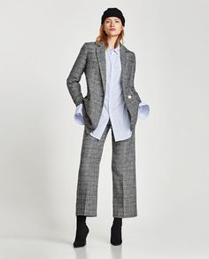 CHECKED TROUSERS-NEW IN-WOMAN | ZARA United States