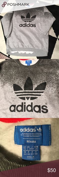"""Adidas Rita Ora Oversized Sweatshirt Barely used. Huge oversized amazingly comfy sweater! I'm 5'9"""" and this was perfect with leggings. Limited edition from the Rita Ora for Adidas collection. Adidas Sweaters Crew & Scoop Necks"""
