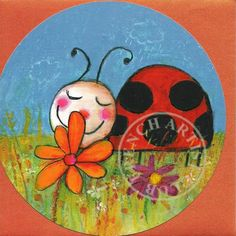 collection of ladybug postcards Painting For Kids, Art For Kids, Drawing Images For Kids, Oil Pastel Drawings Easy, Toddler Drawing, Morel, Insect Art, Cute Animal Drawings, Spring Crafts