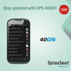 Stay Updated with OPS 40GN!  #OptimaSmart #SmartPhone #RageMobiles   Explore: http://bit.ly/13G8P7A