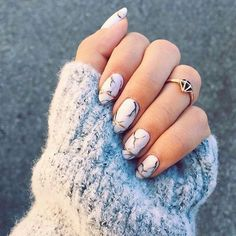 Marble Nails are a must have for Winter Season 2017