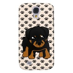 Cute Little Rottweiler Puppy Dog Cartoon Animal Samsung Galaxy S4 case