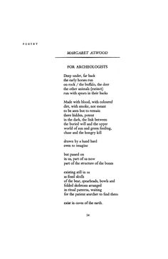 For Archeologists by Margaret Atwood | Poetry Magazine